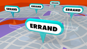 The concept behind potless, Helping Hands, image shows errand running jobs pinned on a map