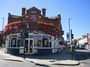 Large numbers of establishments similar to this Wetherspoons pub in Acton London are at risk of permanent closure due to Covid-19 restrictions