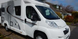 Image of new motorhome, accompanying story about large numbers of people buying leisure vehicles during lockdown