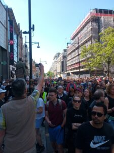 Oxford Street London, central to recent Save Our Rights protests